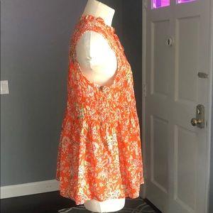 Cynthia Rowley Tops - Cynthia Rowley Smocked Floral Top